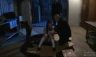 黒髪の清楚な美女JKが鬼畜男に監禁されてイラマチオ責めで喉奥にザー汁射精