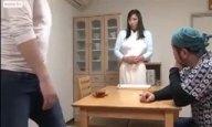 「またイっちゃうのぉ!」緊縛された爆乳妻が息子のガチ調教で白目イキ!