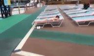 プールサイドでナンパした神乳美女をホテル連れ込みハメ撮り