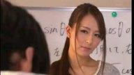 女教師希崎ジェシカがわざとパンチラして生徒を誘惑しフェラ&足コキ抜き