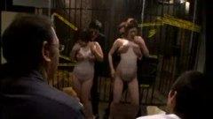 h3爆乳熟女がレオタードの上からローションまみれで犯される乱交!/h3
