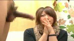 h3男性経験の無い素人娘が初めてのセンズリ鑑賞からのフェラ!/h3
