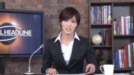 本田翼似の美女アナウンサーに本番中に大量顔射!